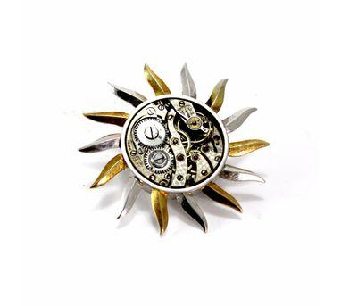 Absynthe Designs|Sun Watch Part Brooch