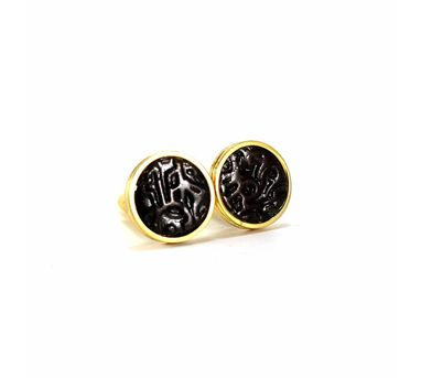 Absynthe Designs| Mahipal Gold Coin Cufflinks