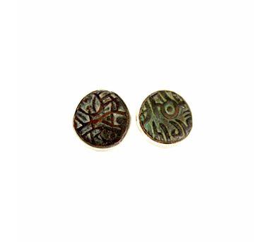 Absynthe Designs   Antique Mahipal  Coin Earring