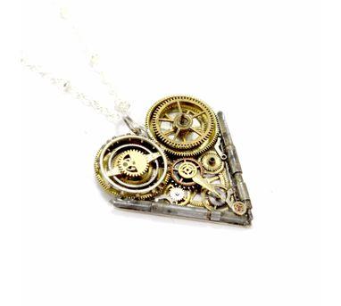 Absynthe Designs|Clock Work Heart Necklace