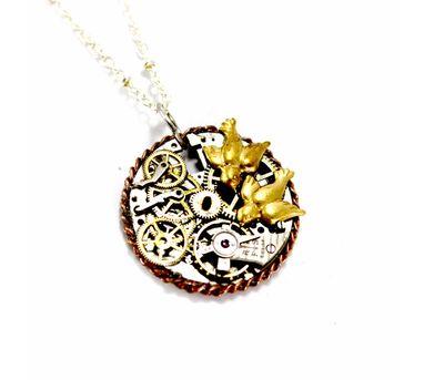 Absynthe Designs|2 Birds  Necklace