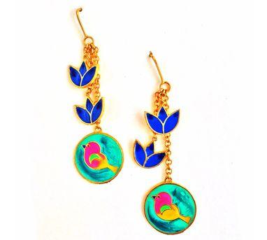 Aditi Bhatt Birds And Flowers Earring