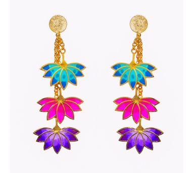 Aditi Bhatt|Three Lotus Earring
