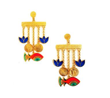 Aditi Bhatt | Glamorous Fish Charm Earrings