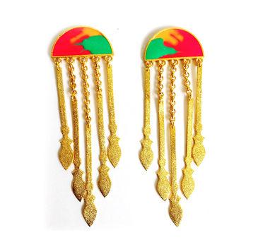 Aditi Bhatt   Tribal Danglers- Multi coloured