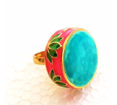 Aditi Bhatt|Lotus Ring Turquoise