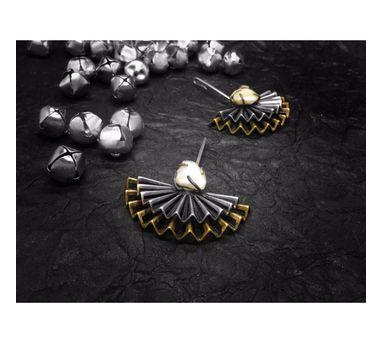 Aseem Gioielli Peacock Motif Large Earring