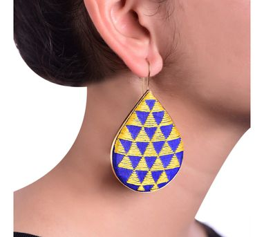 Akihi|Blue&Yellow Earring