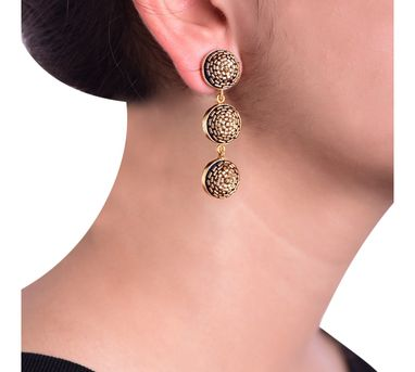 Akihi|Gold Beaded Earrings