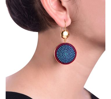 Akihi|Aqua& Red Earring