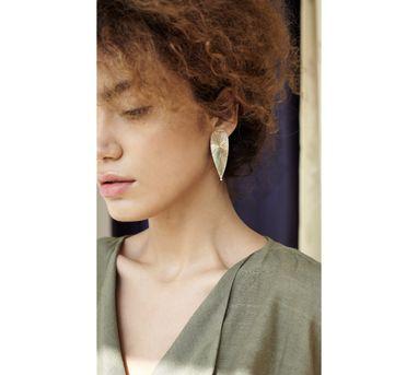 Benaazir|Textured Drop Earring