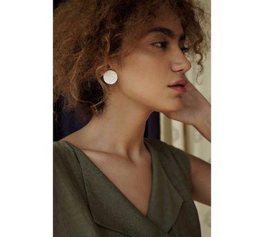Benaazir|Silver Cloud  Earring