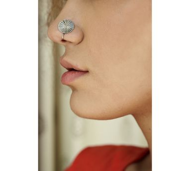 Benaazir|Etched Textured Nose Pin/Clip