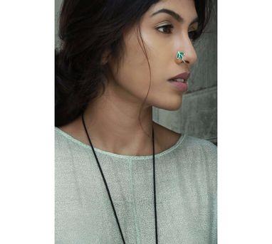Benaazir Petal Blue Nose Pin/Clip