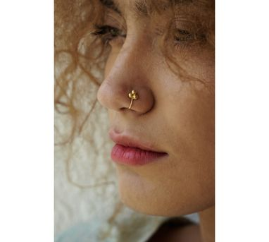 Benaazir|Minimal Gold Nose Pin/Clip