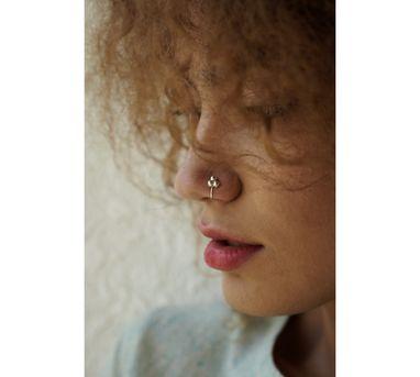 Benaazir|Minimal Silver  Nose Pin/Clip