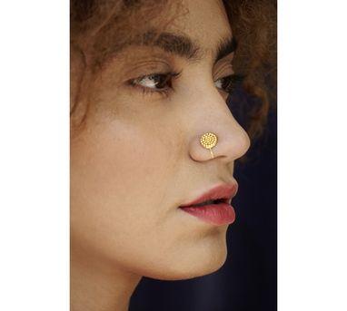 Benaazir|Rava Gold Nose Pin/Clip