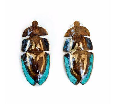 DookdiIE Tumi Flightless Beetle Earring