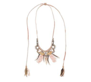 Deepa Gurnani|Karly Silver Peach Necklace