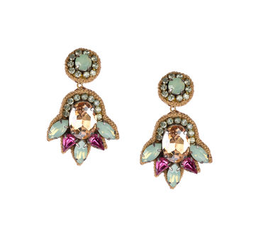 Deepa by Deepa Gurnani | Rosegold Stone Earrings