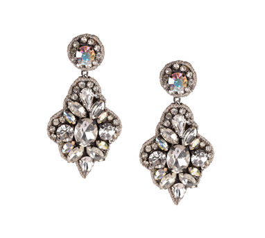 Deepa by Deepa Gurnani | White Stone Earrings