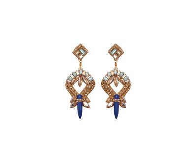 Deepa By Deepa Gurnani|Zia Blue Earring