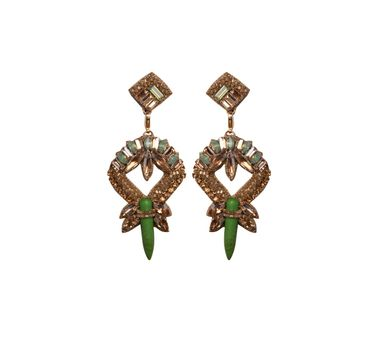 Deepa By Deepa Gurnani|Zia Green Earring