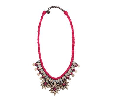 Deepa By Deepa Gurnani|Kiri Fuschia Necklace