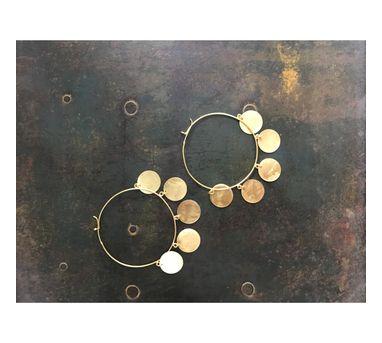 Dhora|Ladoo Dangling Gold Earring