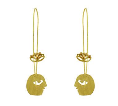 Dhora|Bobo Lotus Hook Earring