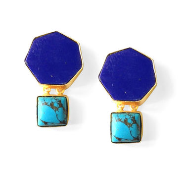 Eesha Zaveri | Hexagon Stud Earrings