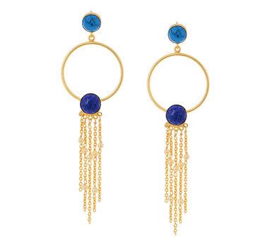 Eesha Zaveri   Dual Stone Drop Earrings