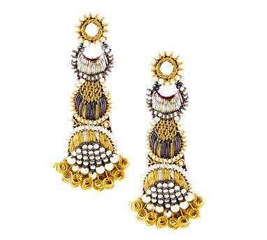 FOOLJHADI | 3 Tiier Dapka Earrings