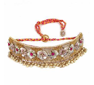 Fooljhadi|Gold Floral Gota Choker
