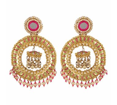 Fooljhadi|Gota Big Circle Earrings