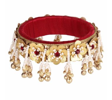 Fooljhadi|Red Gota Flower Bangle