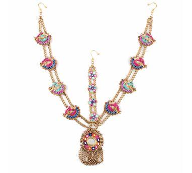 Fooljhadi|Pink and Blue Mirror Maatha Patti