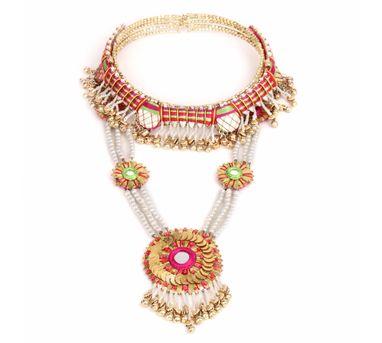 Fooljhadi|Choker & Haar Gota Set Necklace
