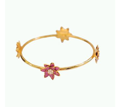 Golden Myrtle|Gold Water Pearl Bangles