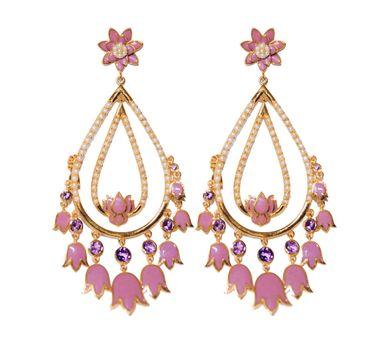 Golden Myrtle|Gold Double Loop Earrings