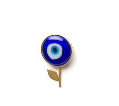 Ikroop|Evil Eye Flower Brooch