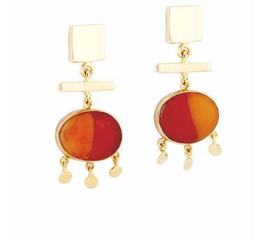 Ikroop|Taffy Earrings Orange