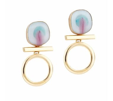Ikroop|Loop Earrings White