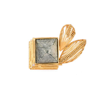 Itrana|Marble Intricate  Gold Ring