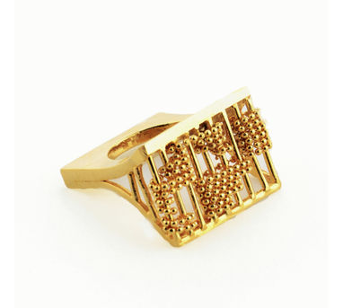 Itrana | Funky Woven Rectangular Ring