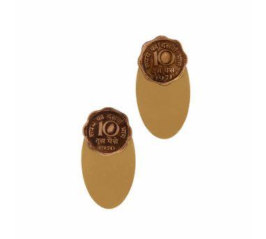 Krithaa|10 Paisa B-Oval Earjackets