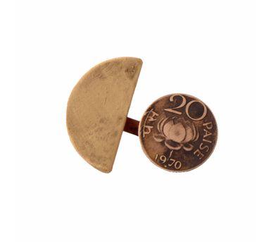 Krithaa 20 Paisa B-SemiCircle Split Ring