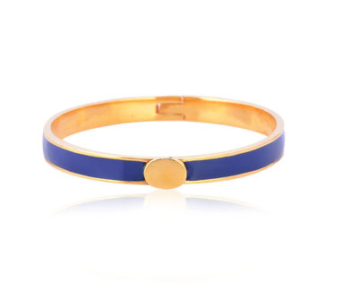 Kesya|Blue and Gold Enamel Bracelet
