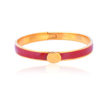 Kesya|Red and Gold Enamel Bracelet