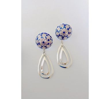 Lai|Blue and Pink Drop Earrings